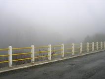 Mgłowy most w Karpenissi, Grecja Obraz Royalty Free