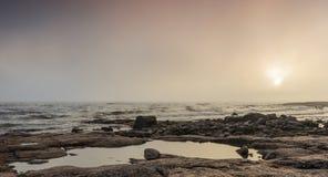 Mgłowy nadmorski Zdjęcia Royalty Free