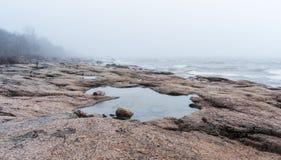 Mgłowy nadmorski Obrazy Stock