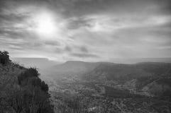 Mgłowy ranek w Palo Duro jarze Zdjęcia Stock