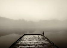 Mgłowy ranku dok Obrazy Royalty Free