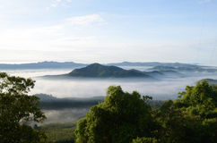 Mgła przy Khohong Wzgórzem Obrazy Stock