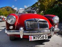 MG, roczników samochody, sportów samochody Zdjęcie Royalty Free