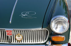 MG's bonnet with signature of Nigel Mansell Royalty Free Stock Photos