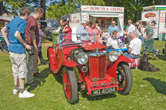 MG Sports car at Forres theme day. Stock Photo