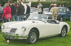 MG Sports car at Fortrose.. Stock Photo