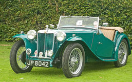 MG Sports car at Fortrose.. Royalty Free Stock Photography