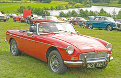 MG Sports car  at Ripley Castle. Stock Images