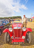 An MG Sports car on show at Roseisle. Stock Photos