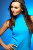 mg-ståendekvinna Royaltyfria Bilder