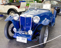 MG TC 1250cc On Display. Royalty Free Stock Photography