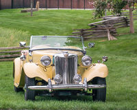 1952 MG TD. DEARBORN, MI/USA - JUNE 20, 2015: A 1952 MG TD car at The Henry Ford (THF) Motor Muster, held at Greenfield Village Royalty Free Stock Photos