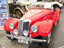 MG TF 1250cc On Display. Royalty Free Stock Photos