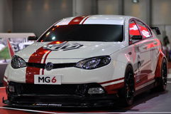 MG6 Turbo at the 35th Bangkok International Motor Show 2014 Royalty Free Stock Image