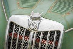 MG vehicle badge close-up Stock Images
