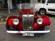 MG, Vintage Cars, Sports Cars. MG - Vintage red sports car, MG Cars, England, UK Stock Photo