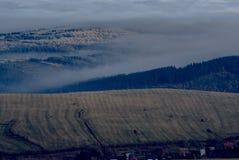 Mgła w dolinach Obrazy Royalty Free