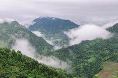 Mgła w górach Obrazy Royalty Free