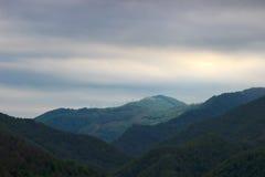 Mgła w górach fotografia stock