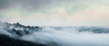 Mgła w khaokho Fotografia Royalty Free