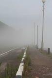 Mgła w Listvyanka na Jeziornym Baikal Obraz Royalty Free
