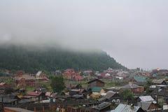 Mgła w Listvyanka na Jeziornym Baikal Zdjęcie Stock