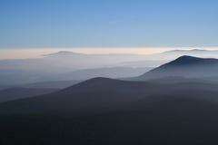 mgły dolina zdjęcie stock