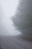 Mgły droga na górze Tajlandia zdjęcie royalty free