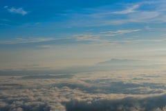 Mgły góra Zdjęcie Stock