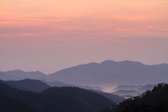 Mgły morze w ranku Obraz Stock
