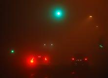 mgły samochodowy ruch drogowy Zdjęcie Stock