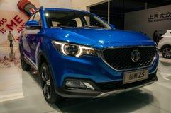 MG ZS SUV på Shanghai den auto showen Arkivbilder
