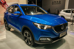 MG ZS SUV på Shanghai den auto showen Fotografering för Bildbyråer