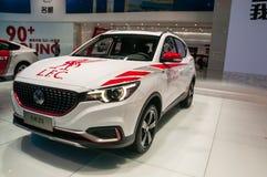 MG ZS SUV på Shanghai den auto showen Royaltyfria Bilder