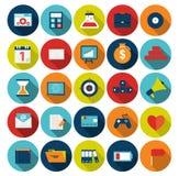 Méga réglé de l'illustration plate de vecteur d'icônes Photographie stock libre de droits