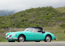 MGA sport car in suburb of San Francisco Stock Image