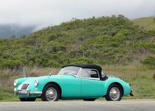 MGA-sportbil i förort av San Francisco Fotografering för Bildbyråer