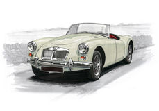 MGA Sportscar Stockfotos