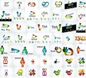 Méga universel de vecteur réglé des logos de société Photos stock