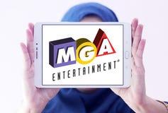 MGA-Vermaakstuk speelgoed fabrikantenembleem Stock Afbeeldingen