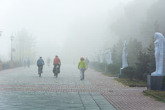 Mgła w Kijów Zdjęcia Royalty Free