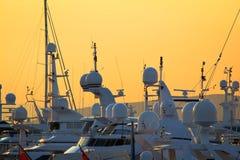 Méga-yachts Image libre de droits