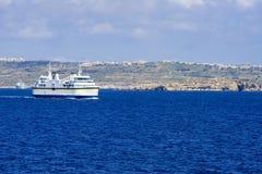Mgarr港在戈佐岛海岛上的在马耳他 免版税图库摄影