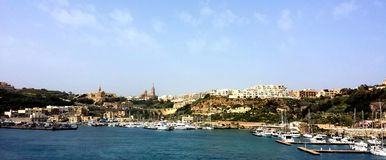 Mgarr镇,海岛戈佐岛,马耳他 免版税库存图片