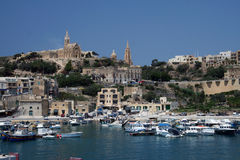 Mgarr on Gozo island, Malta. The view of Mgarr from the harbour of Gozo island, Malta Royalty Free Stock Images