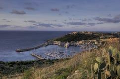 Mgarr Hafen, Gozo Stockfoto