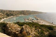 Mgarr hamn Gozo arkivfoton