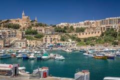 Mgarr hamn, Malta Arkivfoto