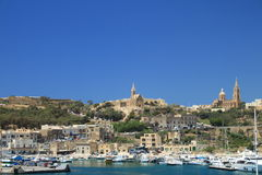 Mgarr Harbour. View on the Mgarr Harbour. Gozo island Malta Royalty Free Stock Photo