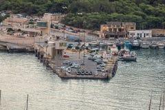 Mgarr Hourbour centrum handlowe Gozo zdjęcie stock